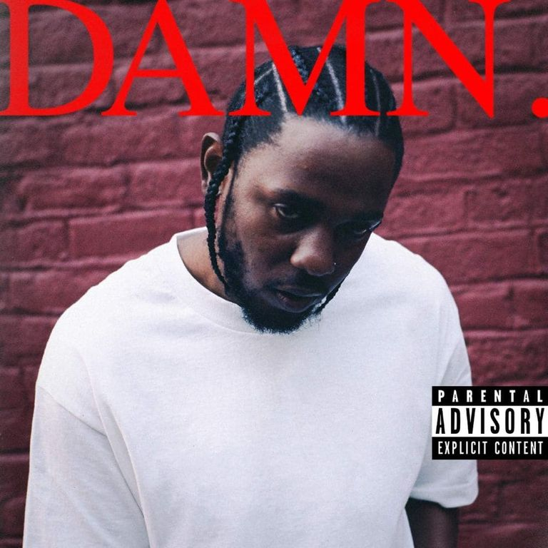 Album artwork of 'DAMN.' by Kendrick Lamar