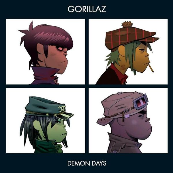 Album artwork of 'Demon Days' by Gorillaz