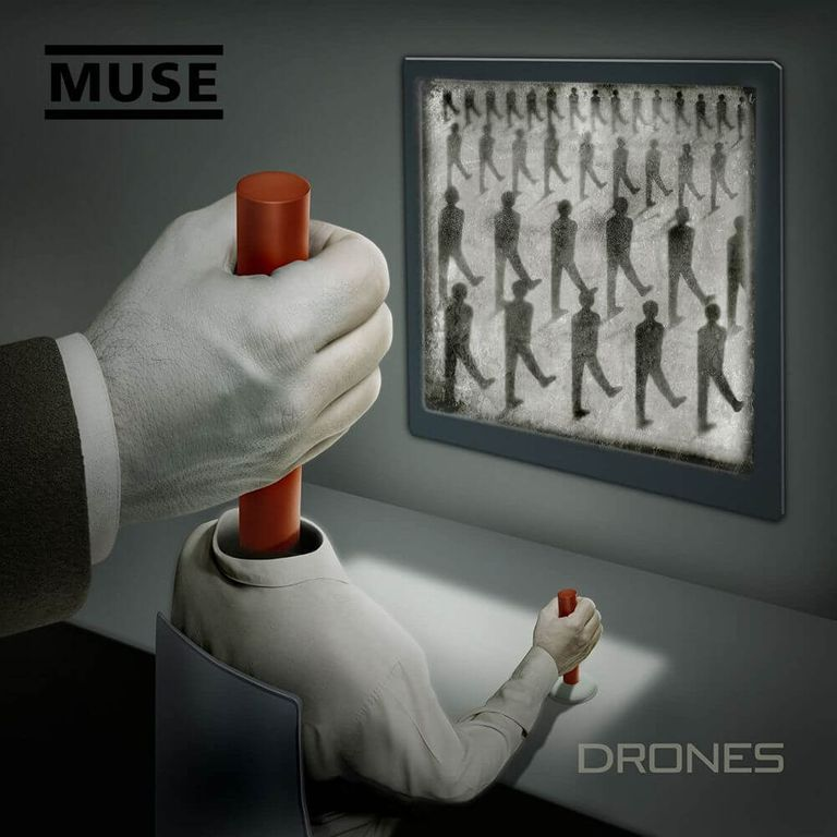 Album artwork of 'Drones' by Muse