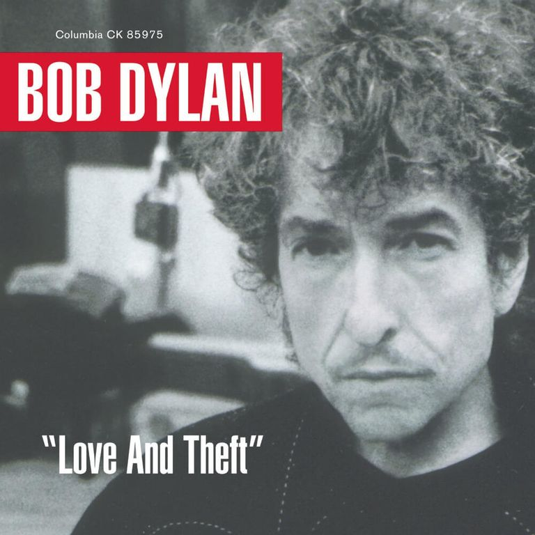 Album artwork of 'Love and Theft' by Bob Dylan