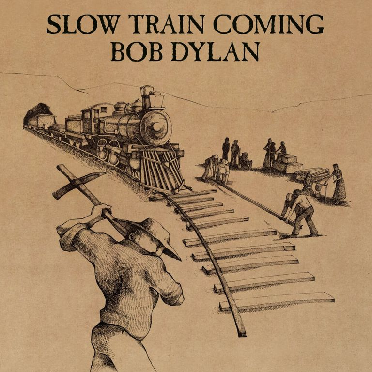 Album artwork of 'Slow Train Coming' by Bob Dylan