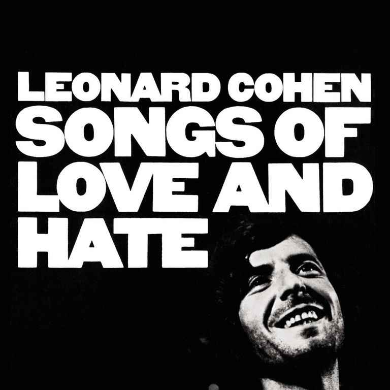 Album artwork of 'Songs of Love and Hate' by Leonard Cohen