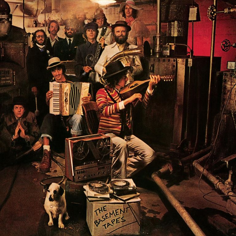 Album artwork of 'The Basement Tapes' by Bob Dylan