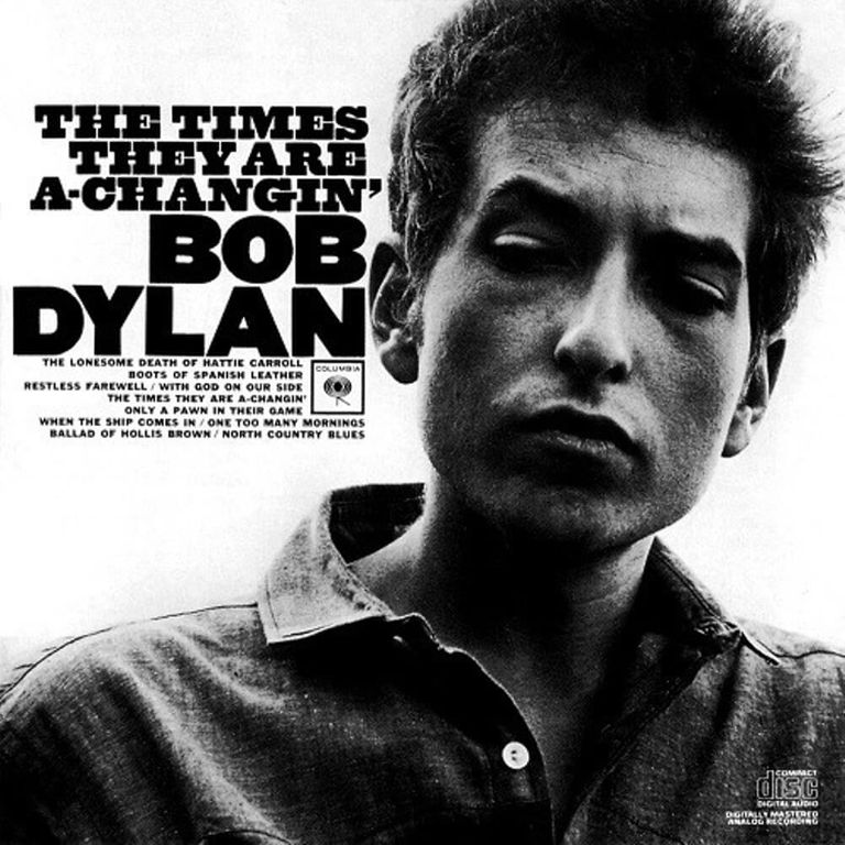 Album artwork of 'The Times They Are a-Changin' by Bob Dylan