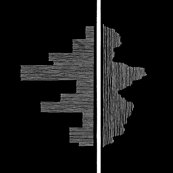 Artwork depicting the contrasting nature of album sides
