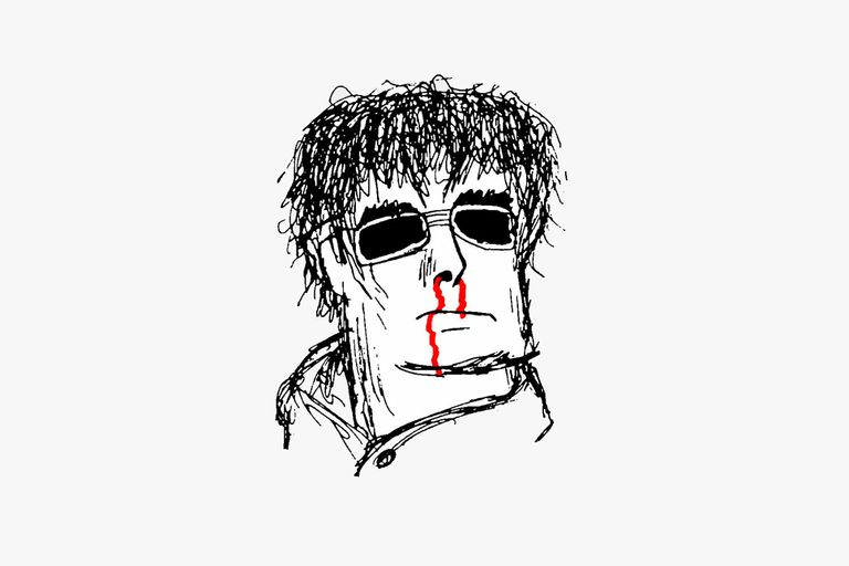 Drawing of late '90-era Liam Gallagher
