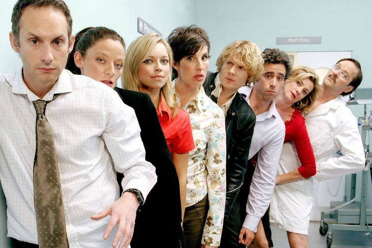 The cast of Green Wing