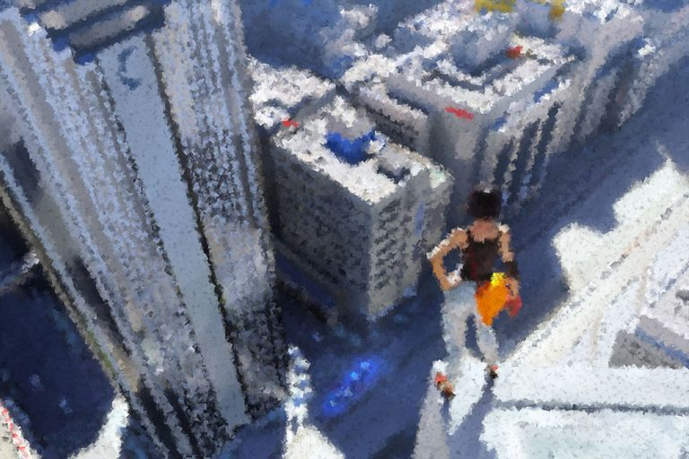 Altered promotional image from Mirror's Edge
