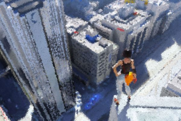 Blurred concept art from the video game Mirror's Edge