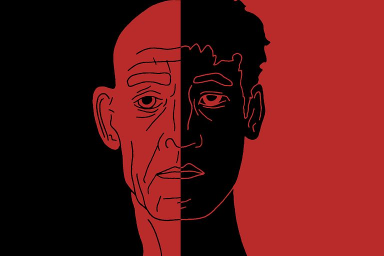 Illustrations of Fletcher and Neiman from the film 'Whiplash'
