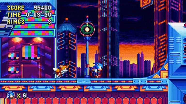 Gameplay screenshot of 'Sonic Mania'