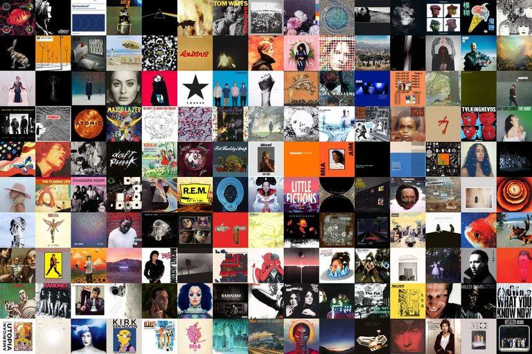 Collage of 150 album covers