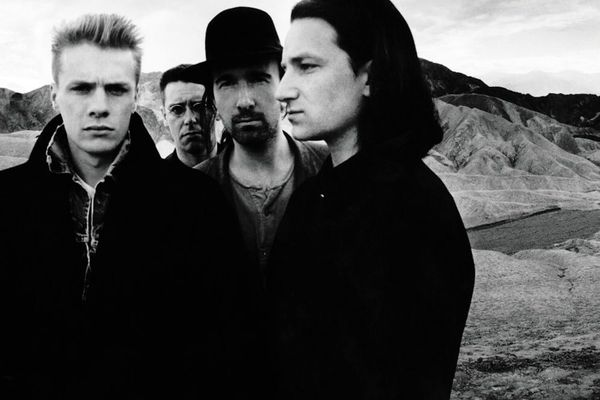 Photograph from the album cover of 'The Joshua Tree' by U2